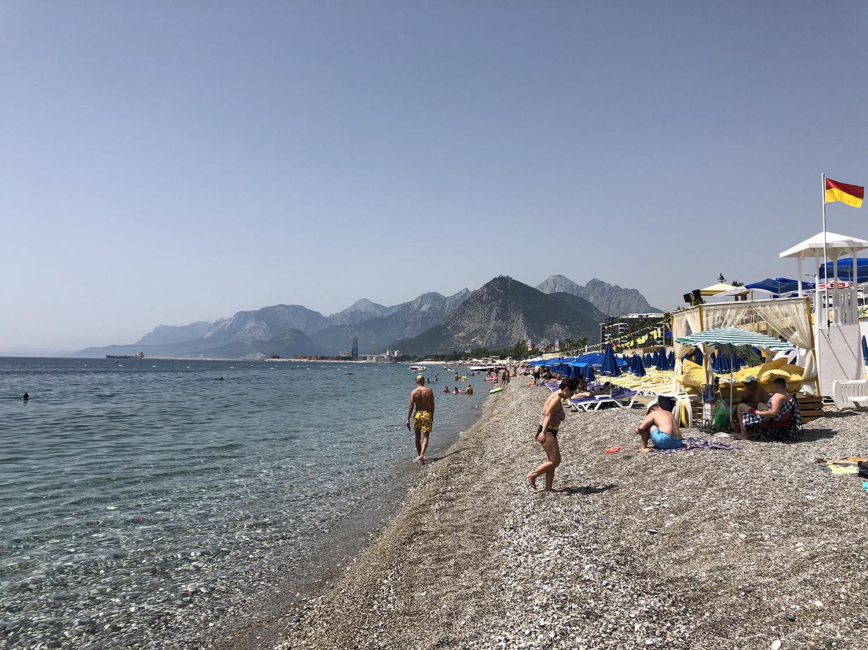 Пляж Анатлия Коньялты 2019