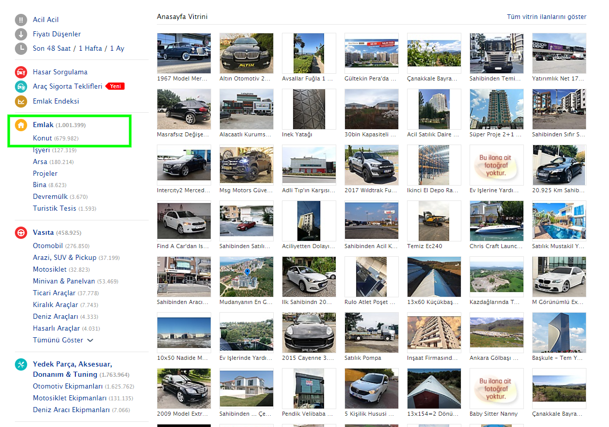 Sahibinden.com - как пользоваться турецкий сайтом по аренде жилья